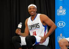 Los Angeles Clippers' Paul Pierce speaks during the team's NBA basketball media day, Friday, Sept. 25, 2015, in Los Angeles. (AP Photo/Mark J. Terrill)